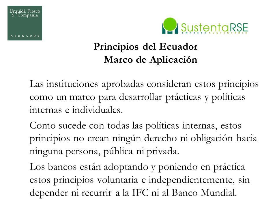 Principios del Ecuador Marco de Aplicación