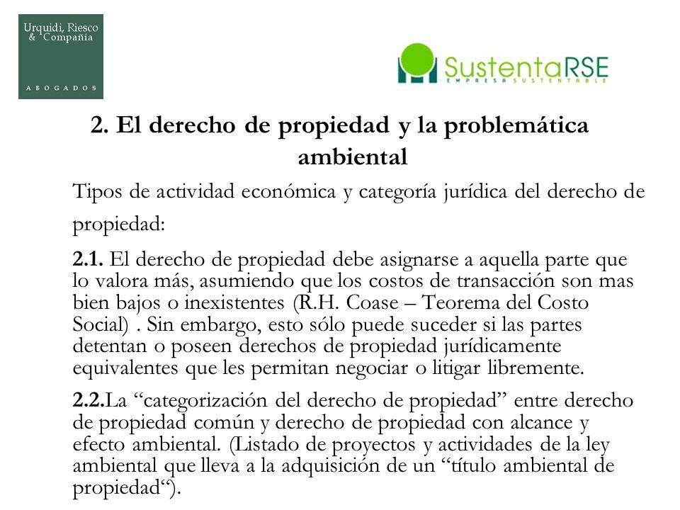 2. El derecho de propiedad y la problemática ambiental