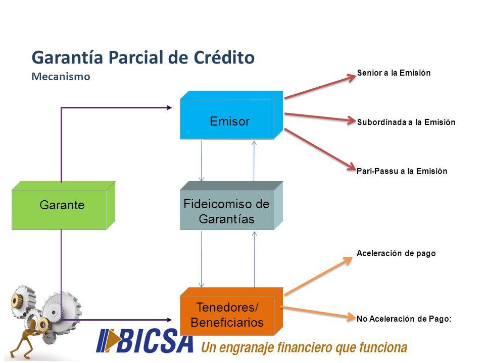 Garantía Parcial de Crédito Mecanismo
