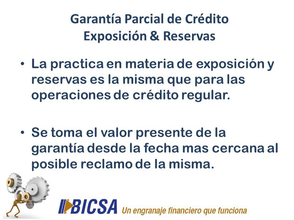 Garantía Parcial de Crédito Exposición & Reservas