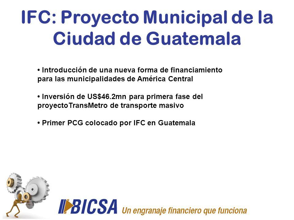 IFC: Proyecto Municipal de la Ciudad de Guatemala