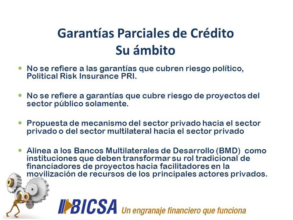 Garantías Parciales de Crédito Su ámbito