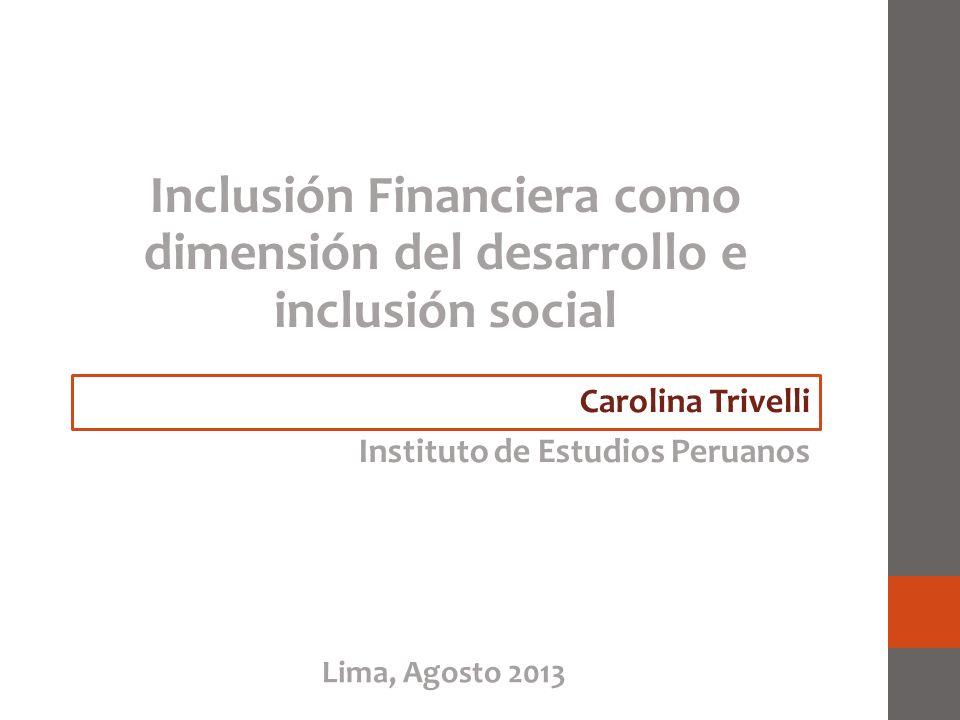 Inclusión Financiera como dimensión del desarrollo e inclusión social
