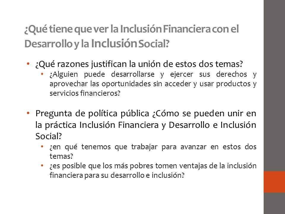 ¿Qué tiene que ver la Inclusión Financiera con el Desarrollo y la Inclusión Social