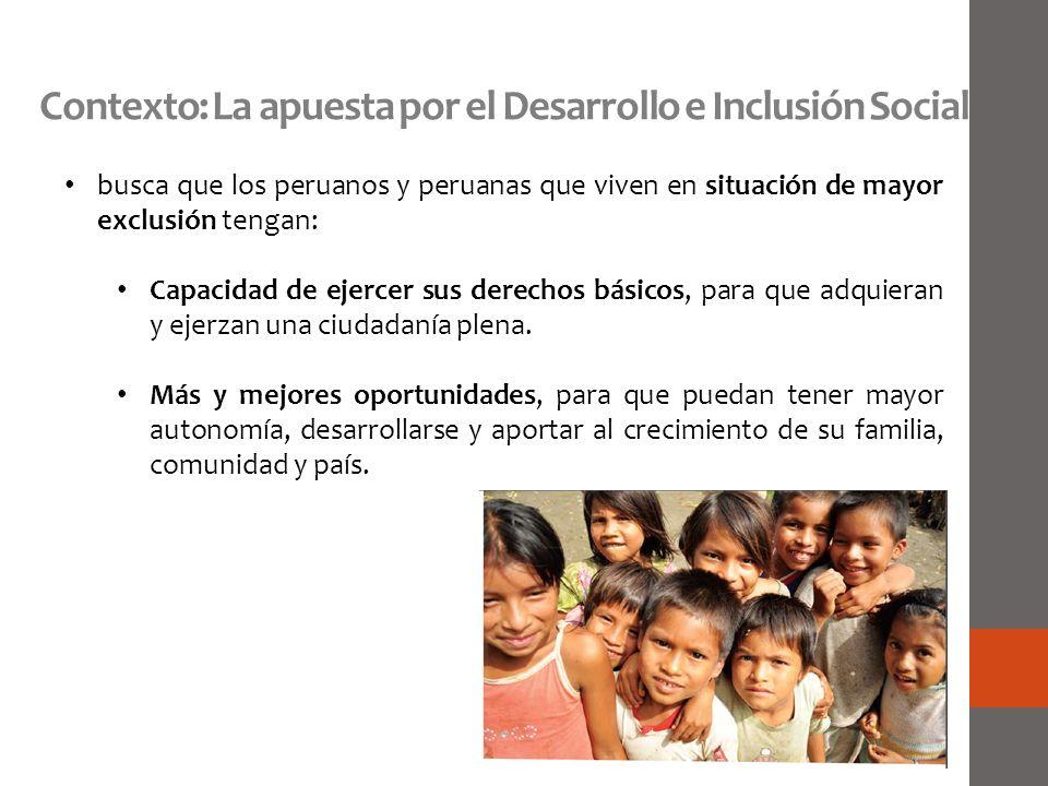 Contexto: La apuesta por el Desarrollo e Inclusión Social