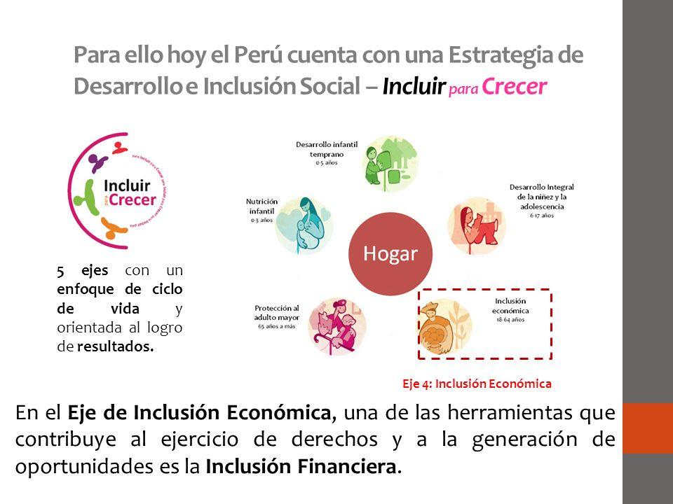 Para ello hoy el Perú cuenta con una Estrategia de Desarrollo e Inclusión Social – Incluir para Crecer
