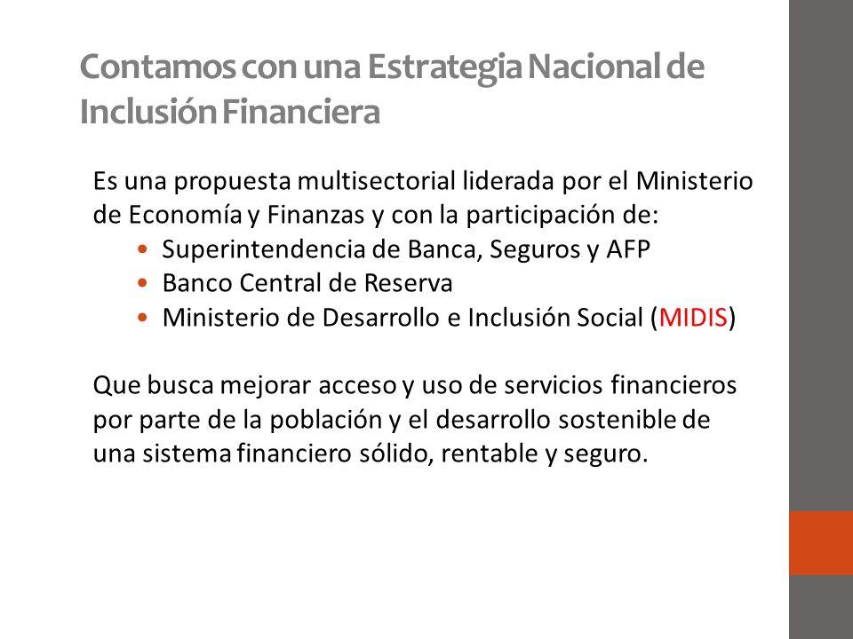 Contamos con una Estrategia Nacional de Inclusión Financiera
