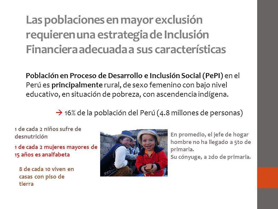 Las poblaciones en mayor exclusión requieren una estrategia de Inclusión Financiera adecuada a sus características