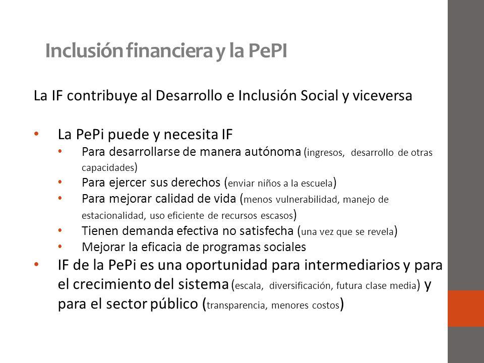 Inclusión financiera y la PePI