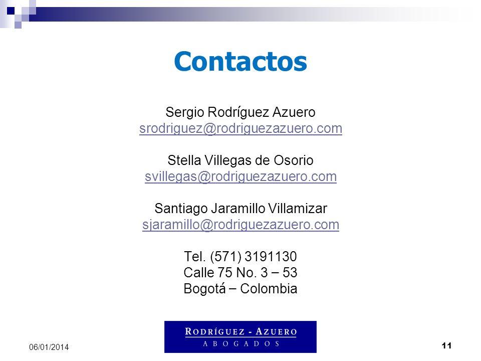 Contactos Sergio Rodríguez Azuero srodriguez@rodriguezazuero.com