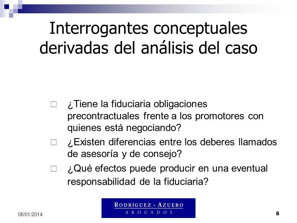Interrogantes conceptuales derivadas del análisis del caso