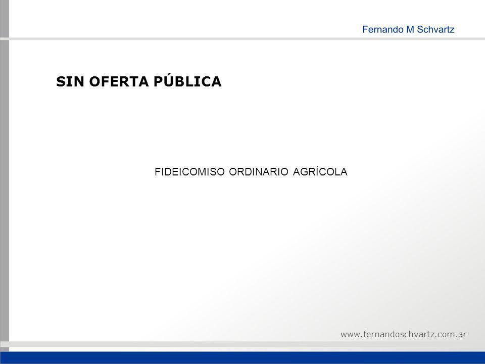 FIDEICOMISO ORDINARIO AGRÍCOLA