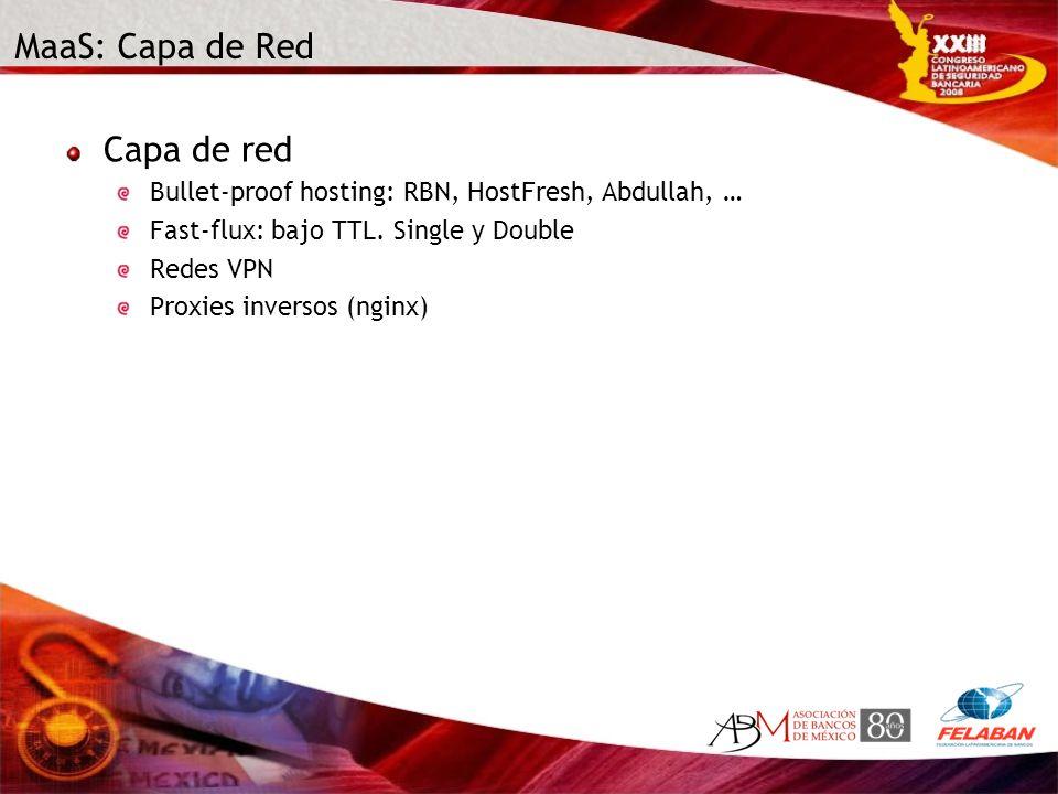 MaaS: Capa de Red Capa de red