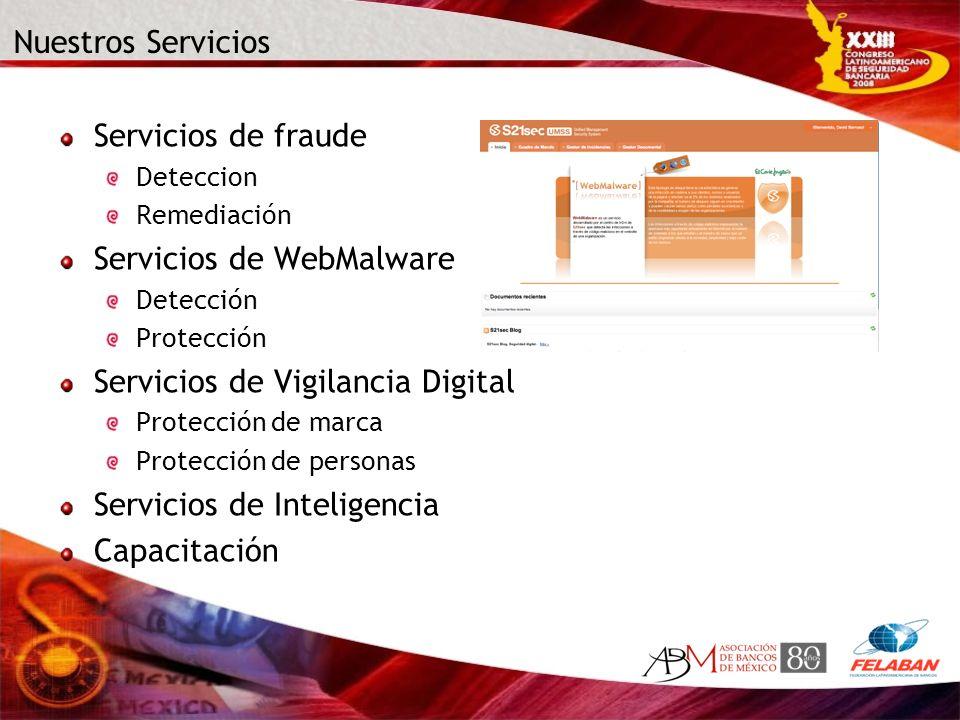 Servicios de WebMalware