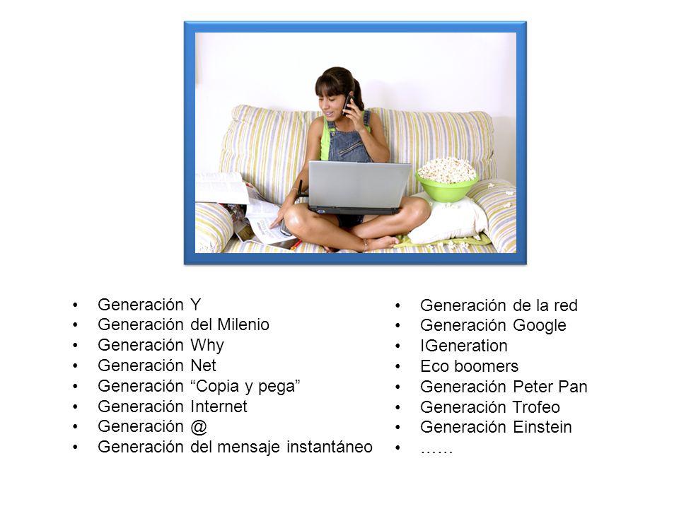 Generación Y Generación del Milenio. Generación Why. Generación Net. Generación Copia y pega Generación Internet.