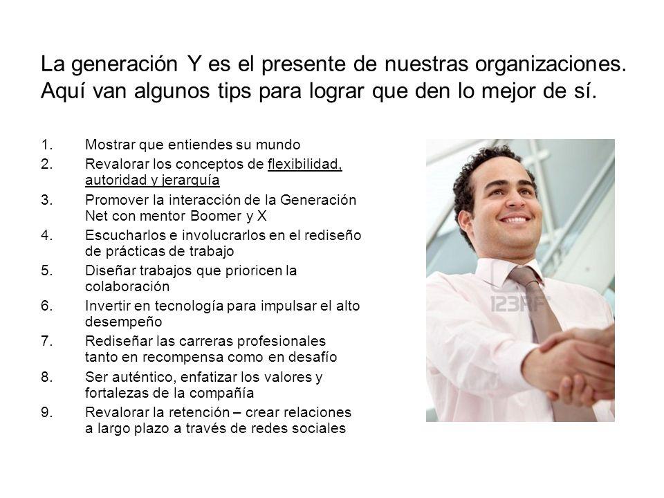 La generación Y es el presente de nuestras organizaciones