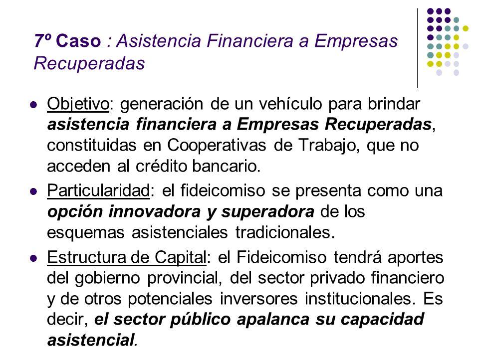 7º Caso : Asistencia Financiera a Empresas Recuperadas
