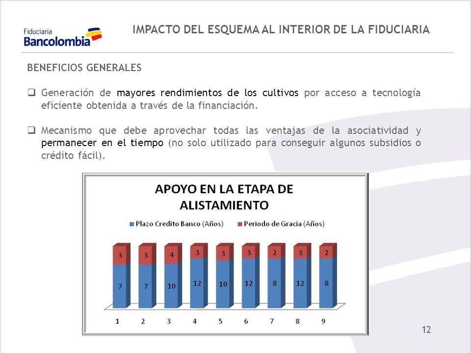 IMPACTO DEL ESQUEMA AL INTERIOR DE LA FIDUCIARIA