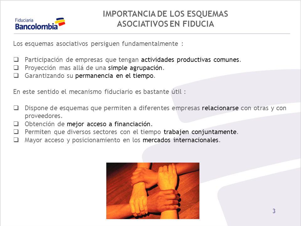 IMPORTANCIA DE LOS ESQUEMAS ASOCIATIVOS EN FIDUCIA