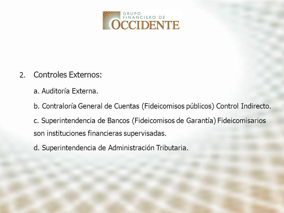 Controles Externos: a. Auditoría Externa.