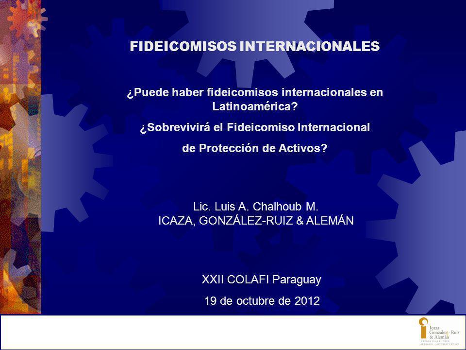 FIDEICOMISOS INTERNACIONALES