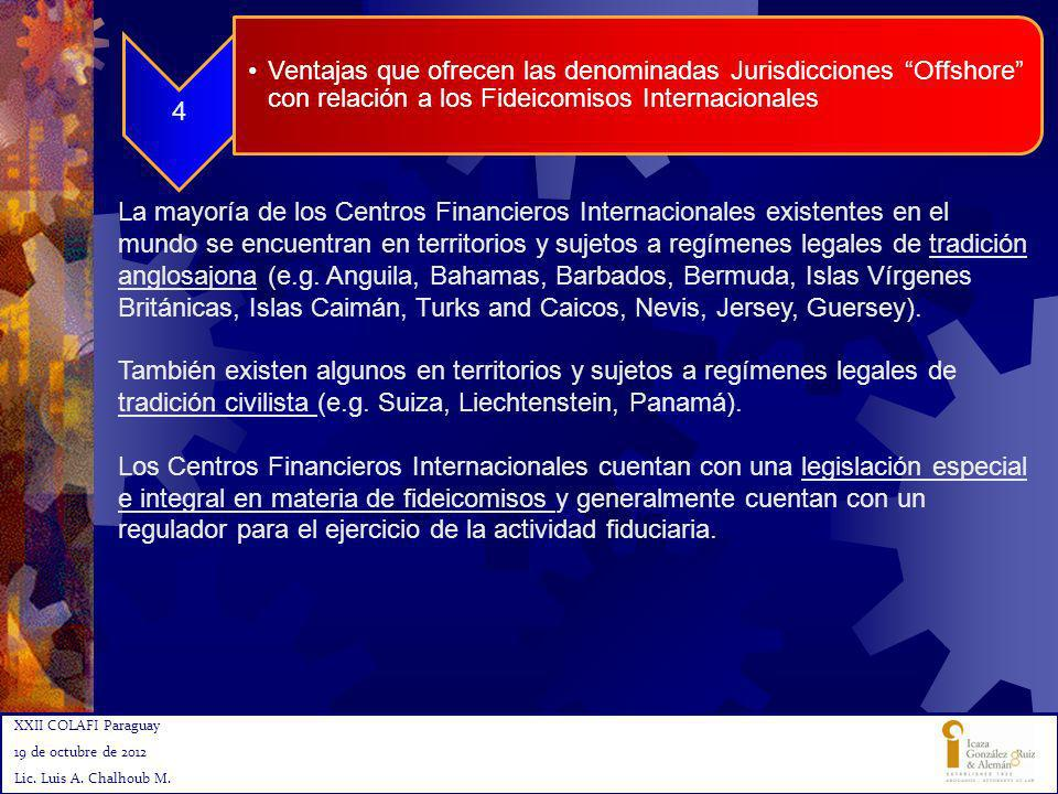 4 Ventajas que ofrecen las denominadas Jurisdicciones Offshore con relación a los Fideicomisos Internacionales.