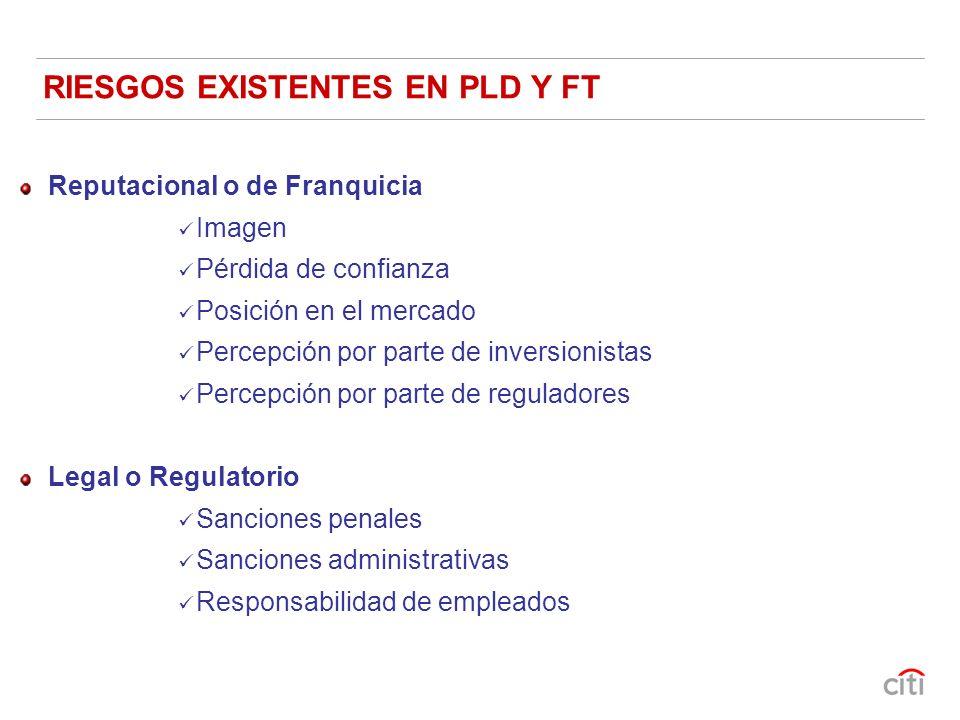 RIESGOS EXISTENTES EN PLD Y FT