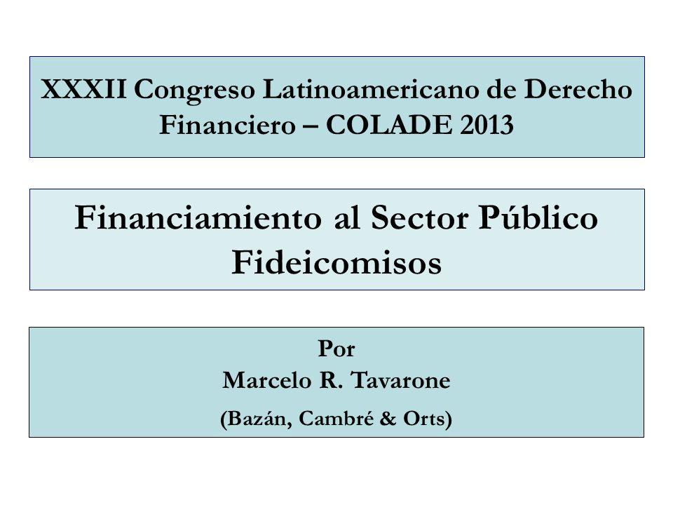 Financiamiento al Sector Público Fideicomisos