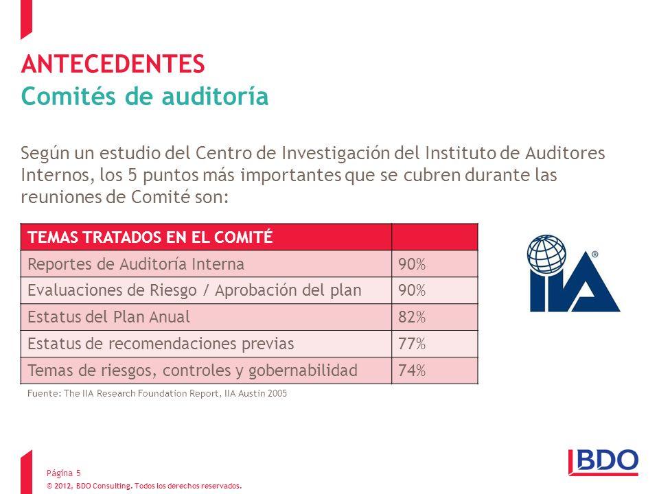 ANTECEDENTES Comités de auditoría