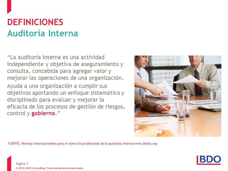 DEFINICIONES Auditoría Interna