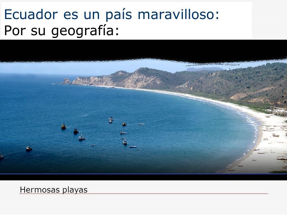 Ecuador es un país maravilloso: Por su geografía: