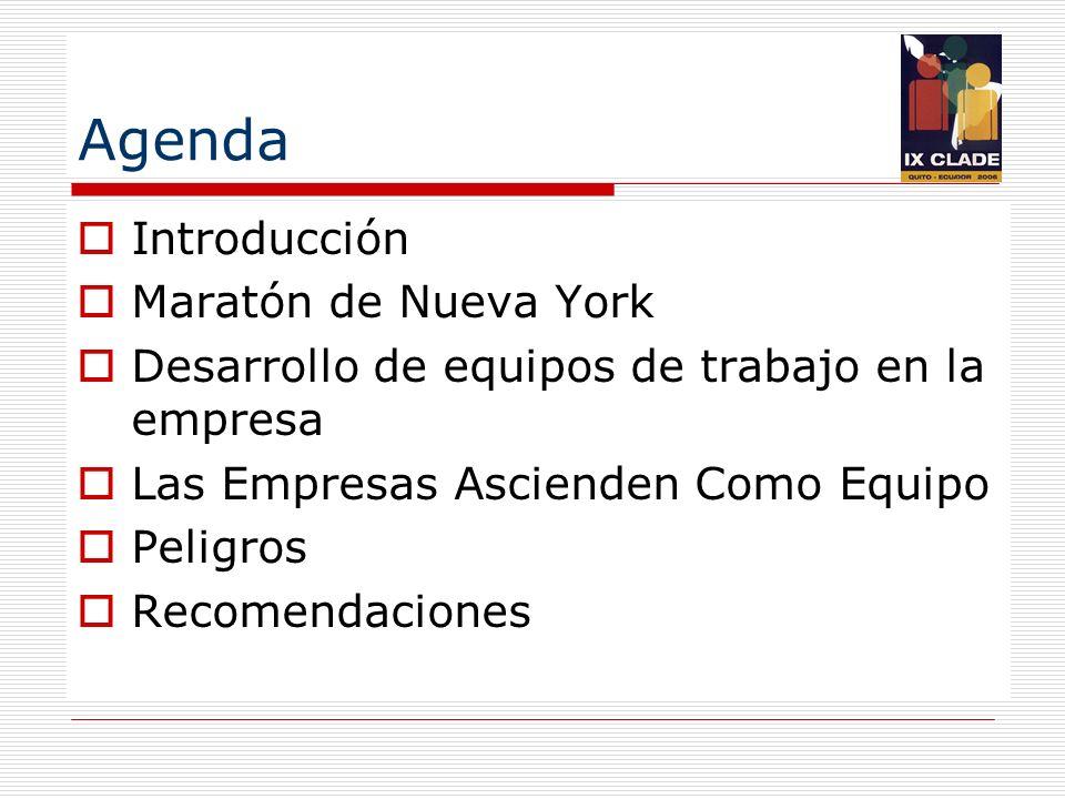 Agenda Introducción Maratón de Nueva York