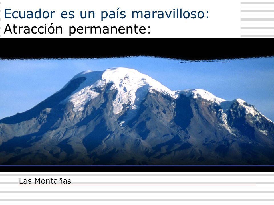 Ecuador es un país maravilloso: Atracción permanente: