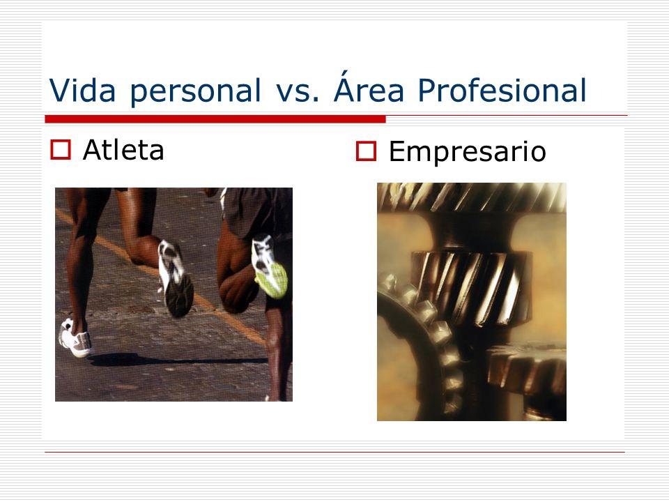 Vida personal vs. Área Profesional