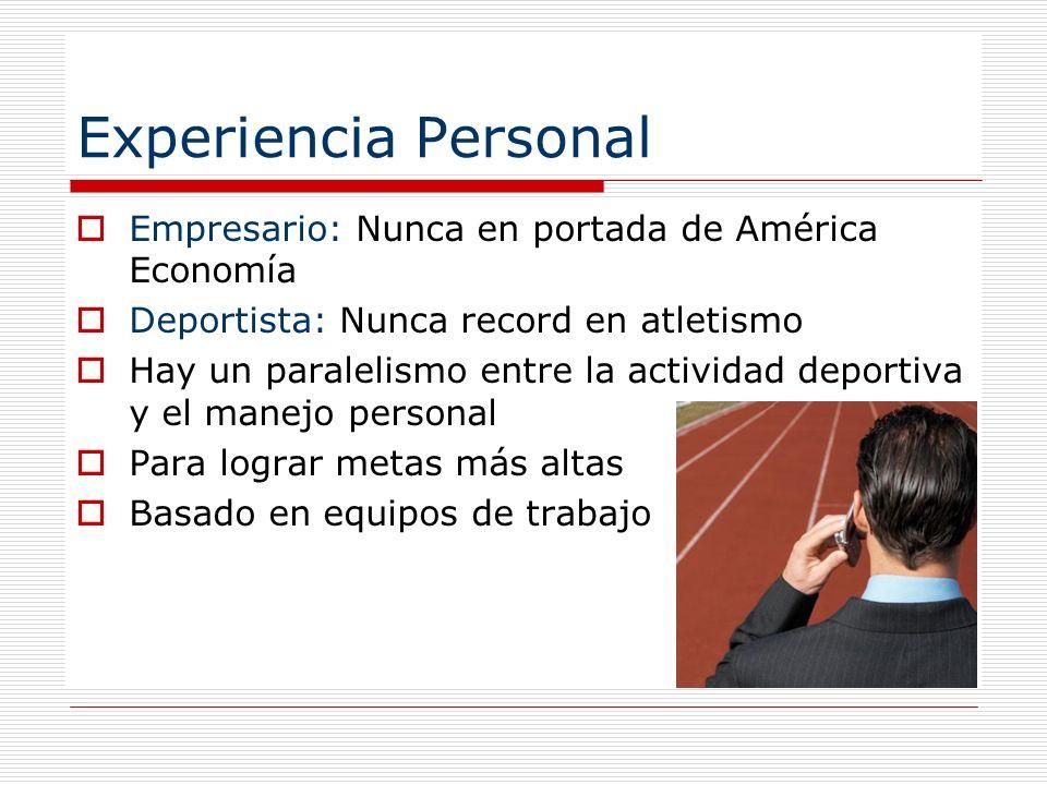 Experiencia Personal Empresario: Nunca en portada de América Economía