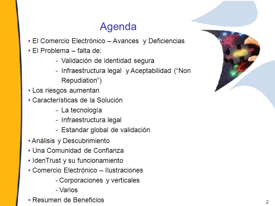 Agenda El Comercio Electrónico – Avances y Deficiencias