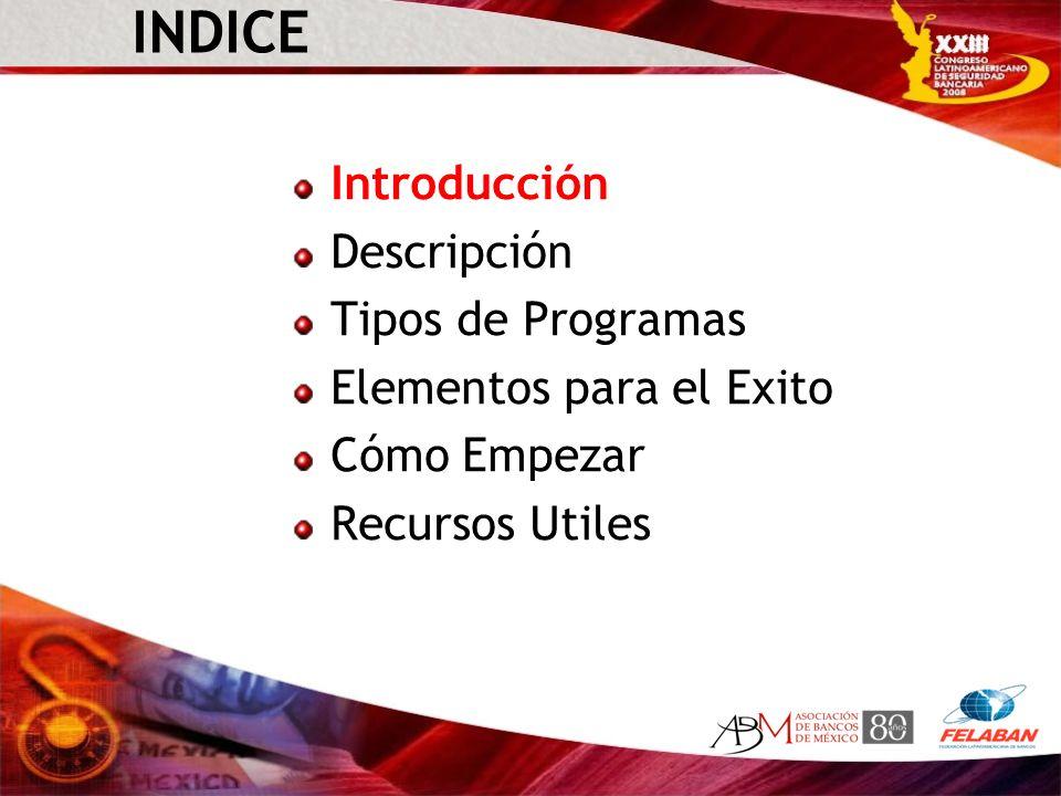 INDICE Introducción Descripción Tipos de Programas