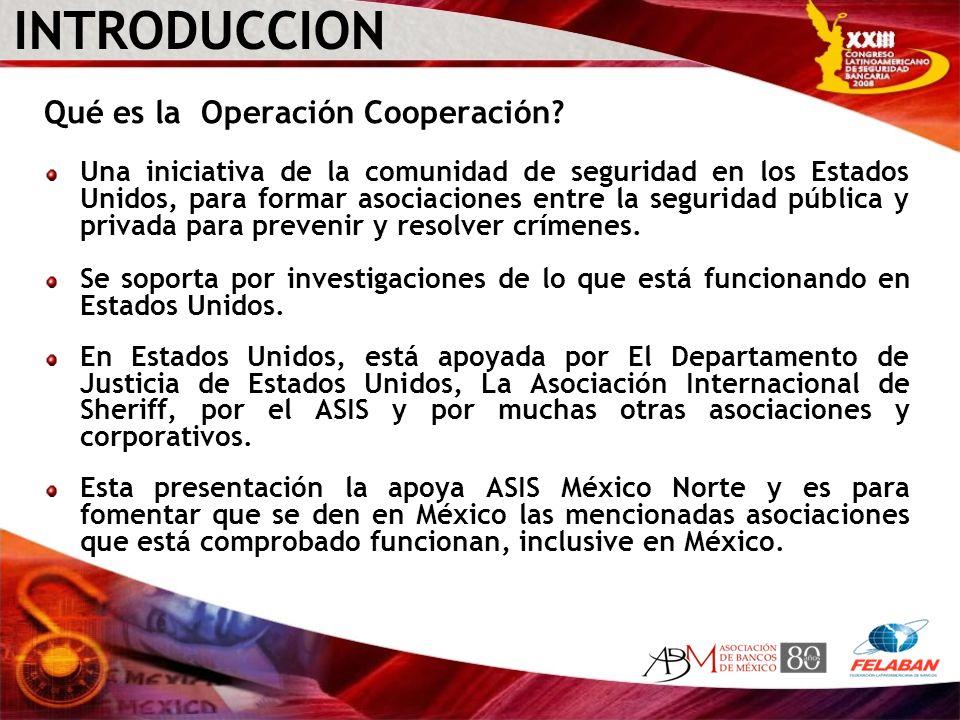 INTRODUCCION Qué es la Operación Cooperación