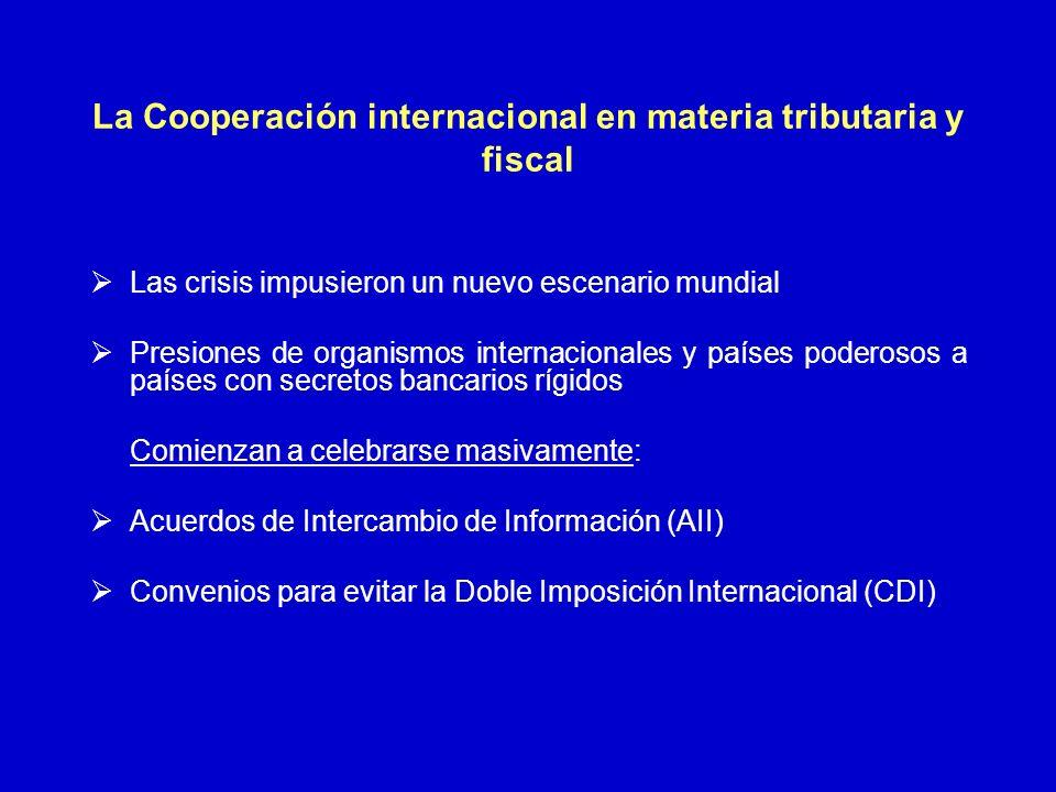 La Cooperación internacional en materia tributaria y fiscal