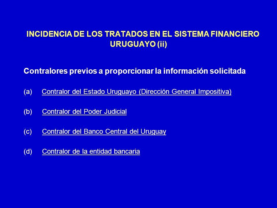 INCIDENCIA DE LOS TRATADOS EN EL SISTEMA FINANCIERO URUGUAYO (ii)