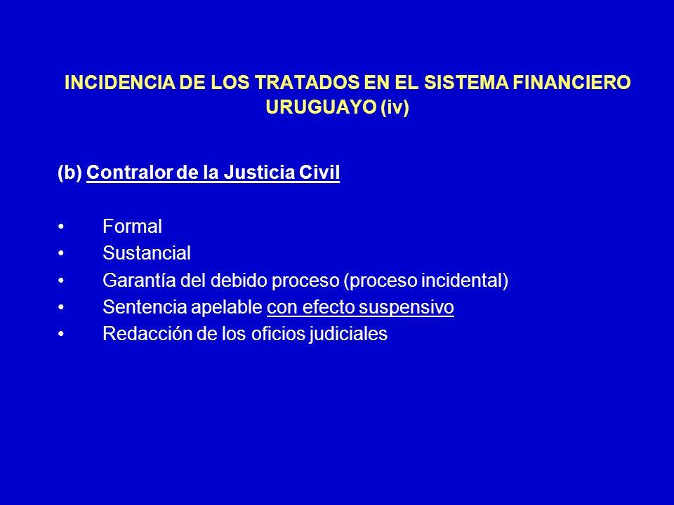 INCIDENCIA DE LOS TRATADOS EN EL SISTEMA FINANCIERO URUGUAYO (iv)