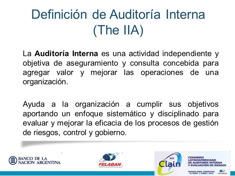 Definición de Auditoría Interna (The IIA)