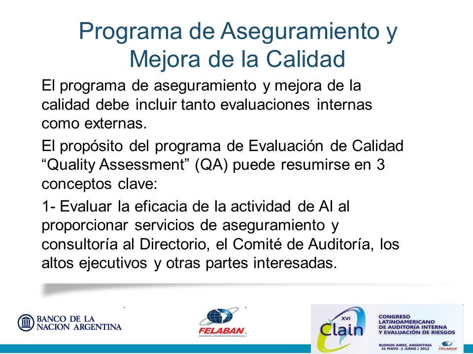 Programa de Aseguramiento y Mejora de la Calidad