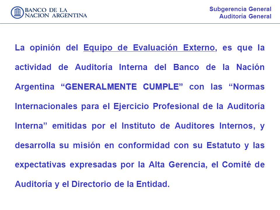 Subgerencia General Auditoría General.