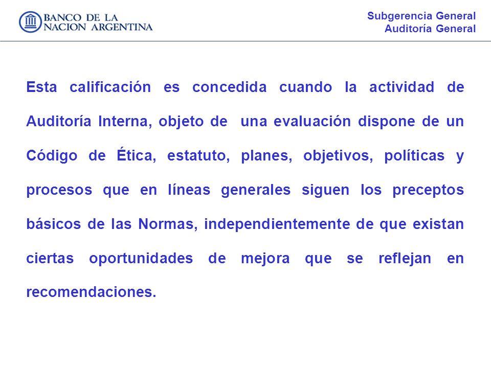 Subgerencia GeneralAuditoría General.