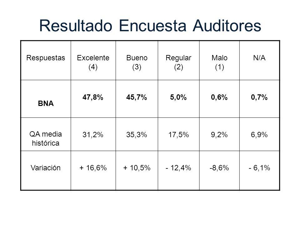 Resultado Encuesta Auditores