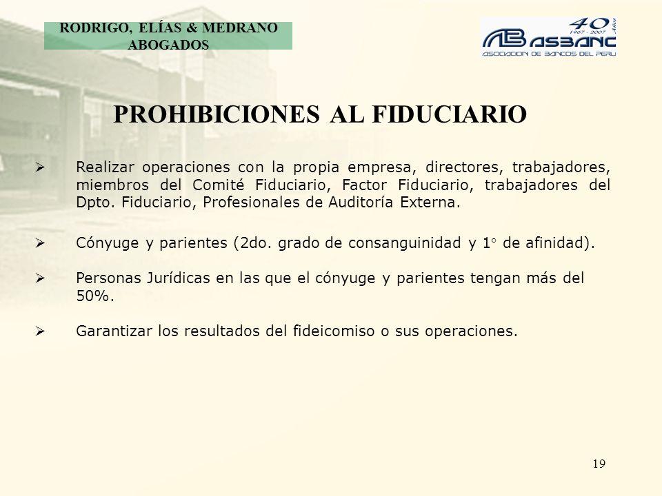 PROHIBICIONES AL FIDUCIARIO