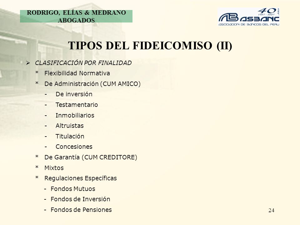 TIPOS DEL FIDEICOMISO (II)