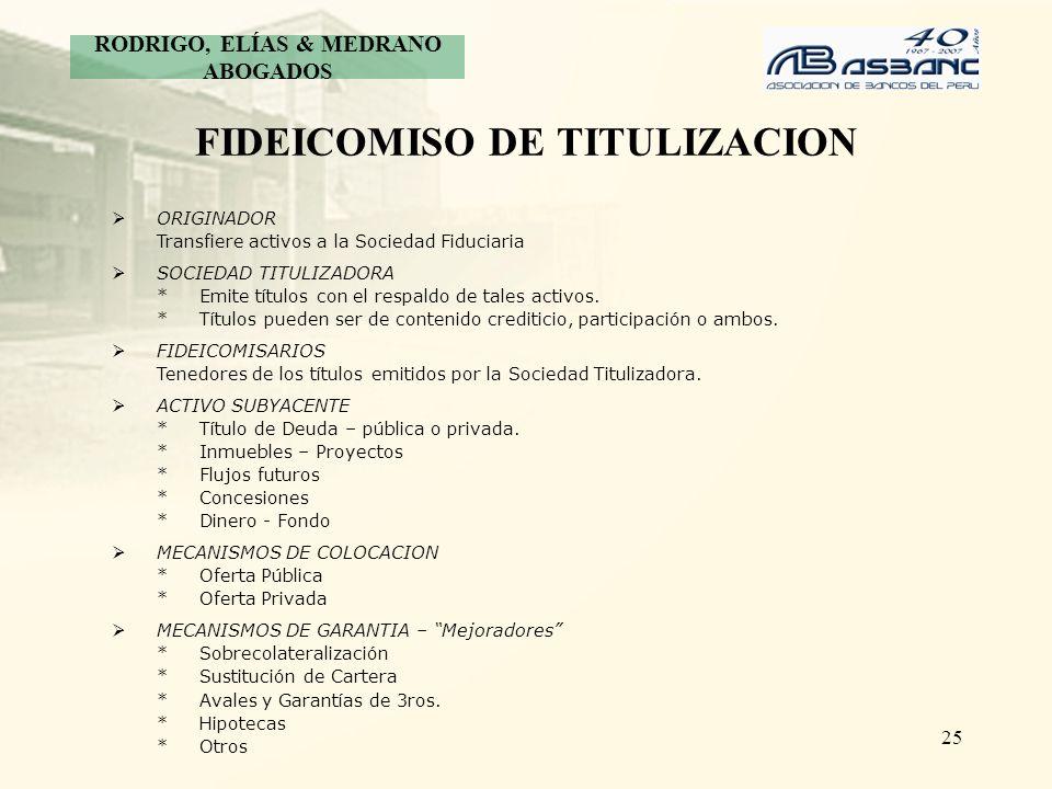 FIDEICOMISO DE TITULIZACION