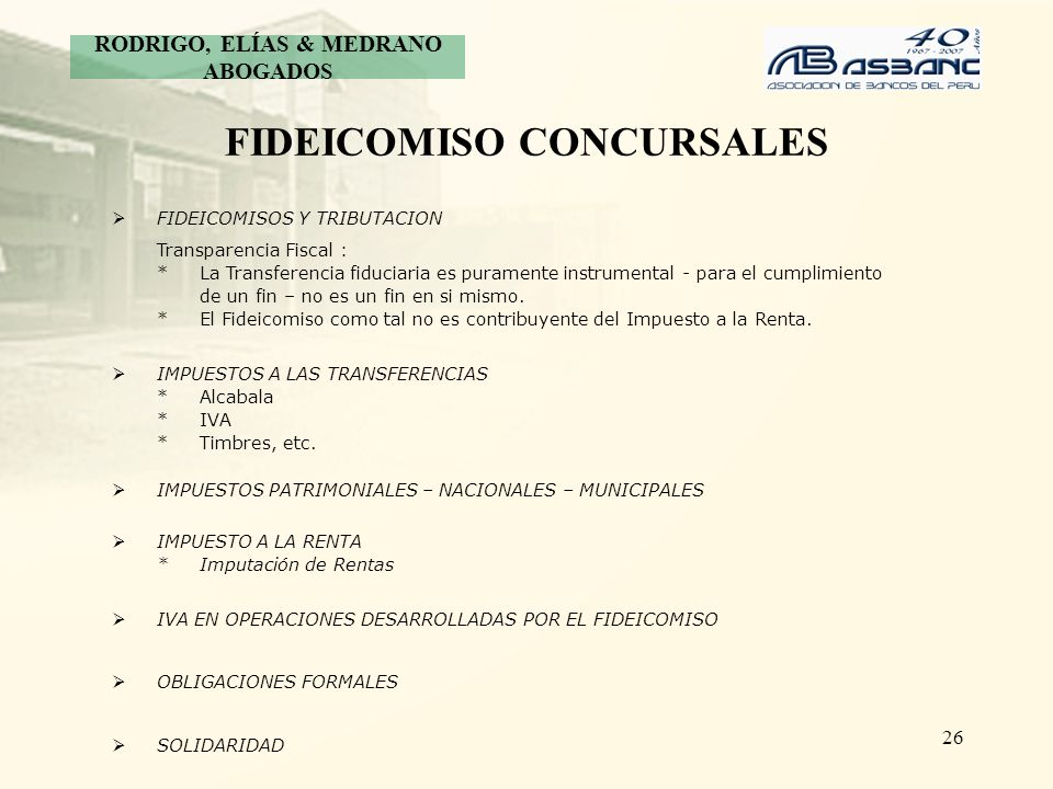 FIDEICOMISO CONCURSALES